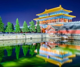 Chinese Palace Museum Night Stock Photo