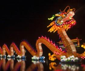 Chinese dragon light Stock Photo