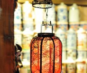 Chinese wind lanterns close-up Stock Photo