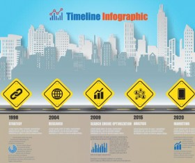 City road infographic template vector