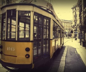City trams Stock Photo 10