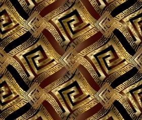 Classical golden seamless pattern vectors 02