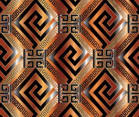 Classical golden seamless pattern vectors 03