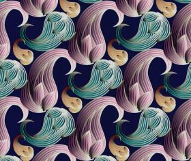 Classical golden seamless pattern vectors 05