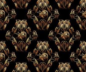 Classical golden seamless pattern vectors 06