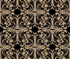 Classical golden seamless pattern vectors 07