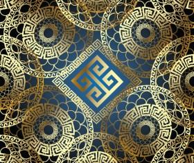 Classical golden seamless pattern vectors 08