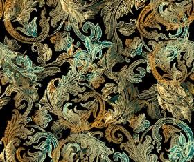 Classical golden seamless pattern vectors 09