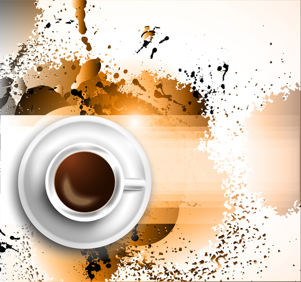 Coffee flyer background vector 01