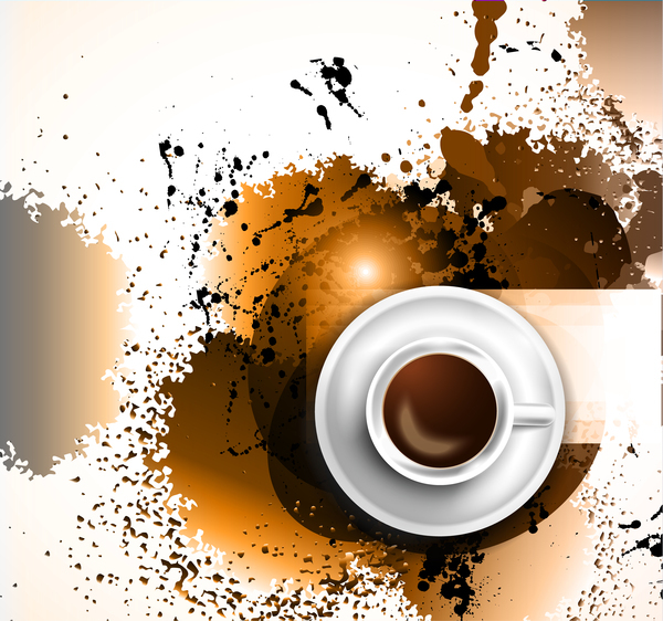 Coffee flyer background vector 02