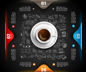 Coffee infographics creative design vector 01