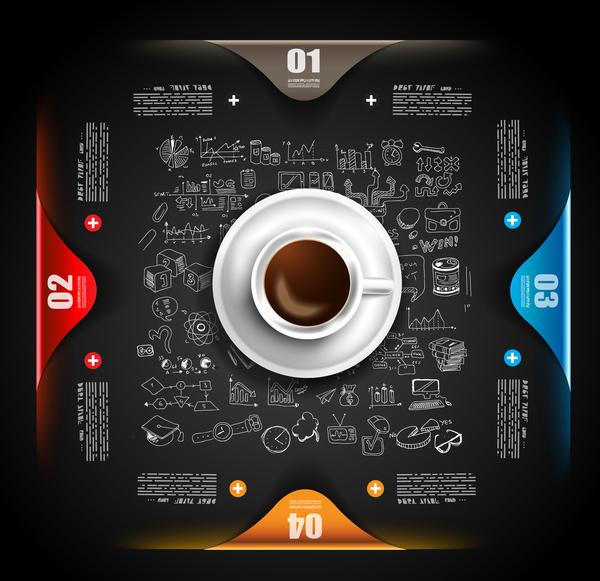 Coffee infographics creative design vector 01