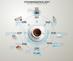 Coffee infographics creative design vector 02