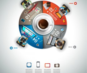 Coffee infographics creative design vector 03