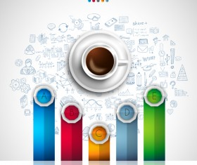 Coffee infographics creative design vector 05