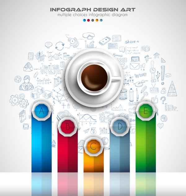 Coffee infographics creative design vector 05