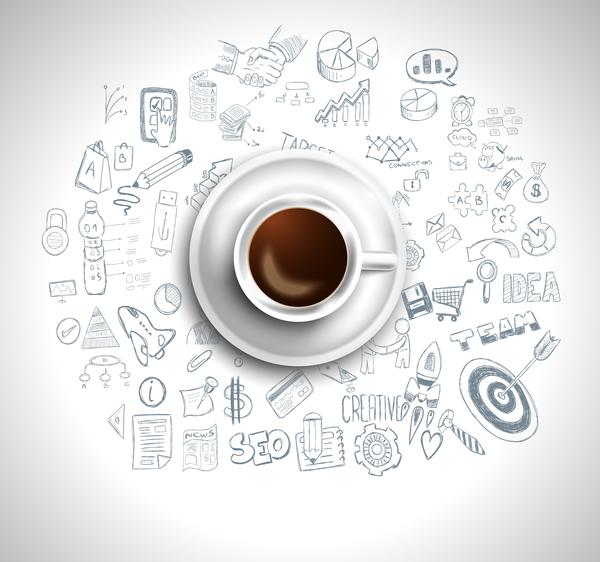 Coffee infographics creative design vector 06