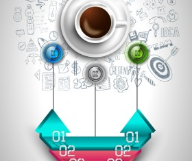 Coffee infographics creative design vector 07