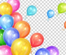 Colored balloon birthday illustration vector 02