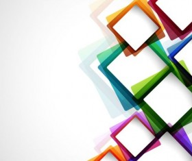 Colored box abstract background vector