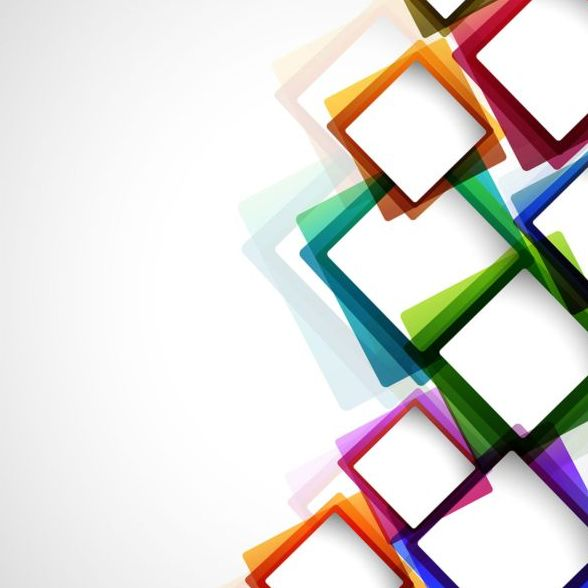 Colored Box Abstract Background Vector Free Download