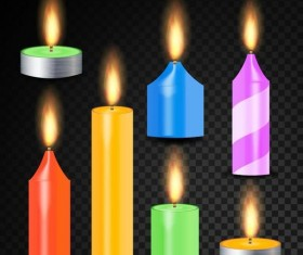 Colored candle vector material