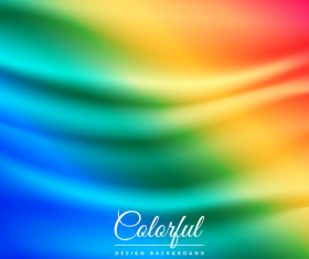Colored gradient wavy background vector