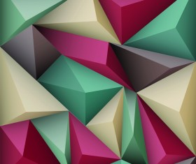 Colored polygon background vector