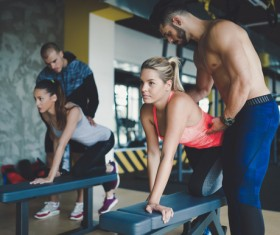 Correct fitness action Stock Photo