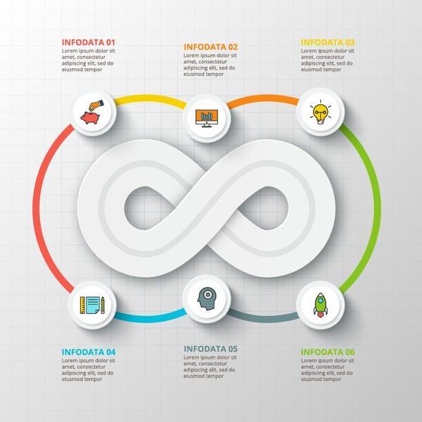 Creative round infographic modern design vector 01