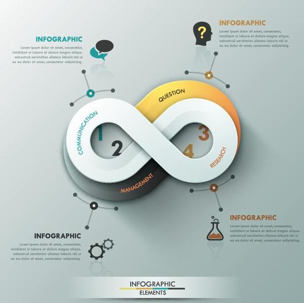 Creative round infographic modern design vector 02