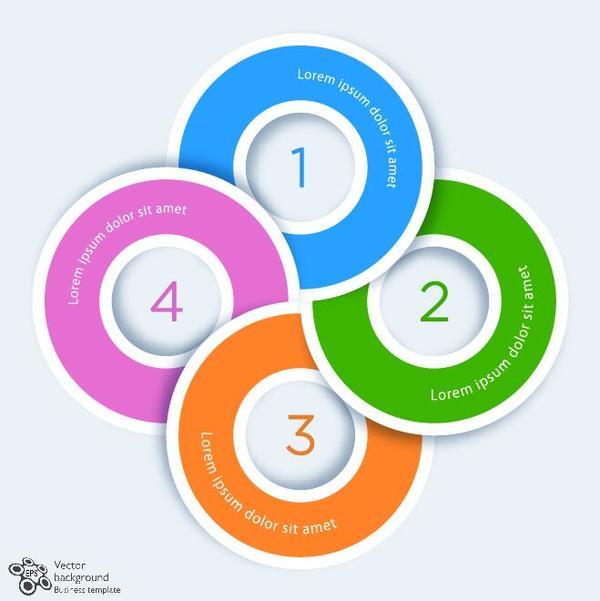 Creative round infographic modern design vector 03
