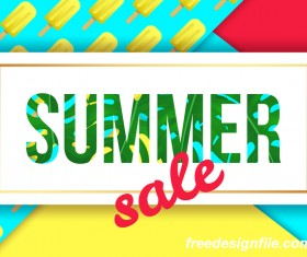 Creative summer sale poster template vectors 01