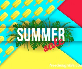 Creative summer sale poster template vectors 02