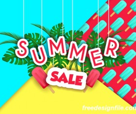 Creative summer sale poster template vectors 03