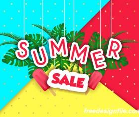 Creative summer sale poster template vectors 04