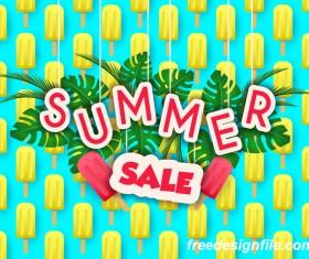 Creative summer sale poster template vectors 05