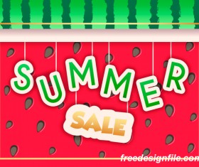 Creative summer sale poster template vectors 07