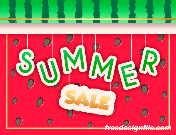 Creative summer sale poster template vectors 07