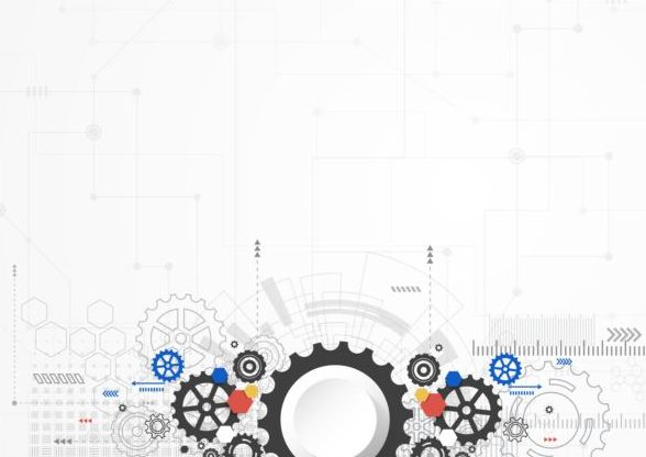 Creative technology background with gear vectors 03