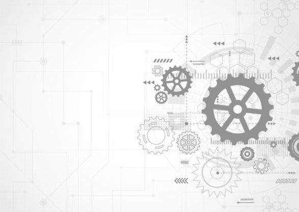 Creative technology background with gear vectors 04