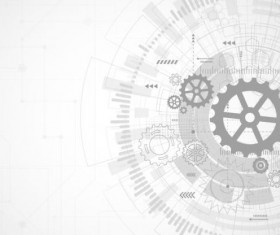 Creative technology background with gear vectors 06