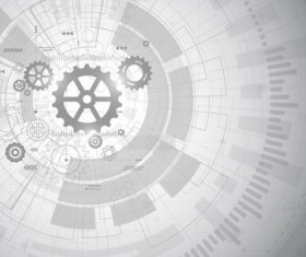 Creative technology background with gear vectors 07