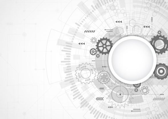 Creative technology background with gear vectors 09