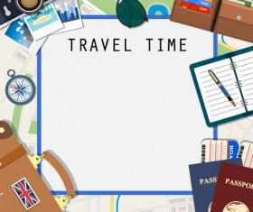 Creative travel background vector