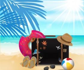 Creative travel template vectors material 02