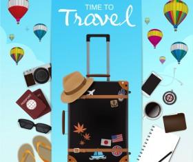 Creative travel template vectors material 05