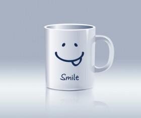 Creative white mug Stock Photo