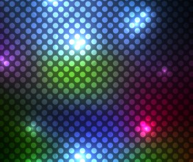 Cricles pattern with colorful light vector background
