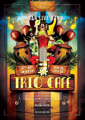 Cuban Live Salsa Flyer PSD Template